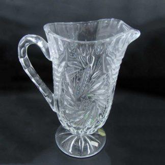 """Vintage Crystal Pitcher 9"""" Pinwheel"""