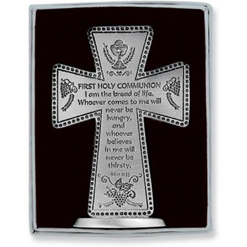 Cathedral Art First Holy Communion Standing Message Cross, 3-Inch