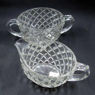 Glass Creamer and Sugar Bowl set