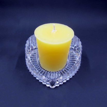 Heart shaped Votive Candle stand (from top with candle)