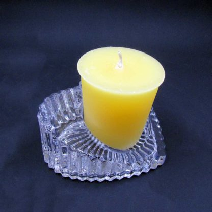 Heart shaped Votive Candle stand (from side with candle)