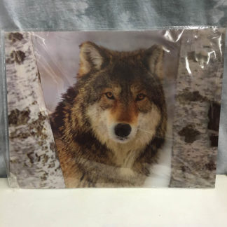 Lone Wolf in Snow 3D Lenticular Poster