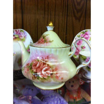 Vintage Ganz Teapot Rose Design