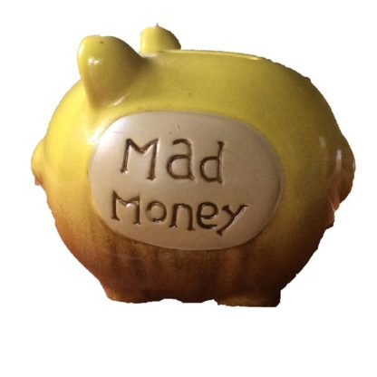 Ceramic Pottery Mini Piggy Bank - Mad Money