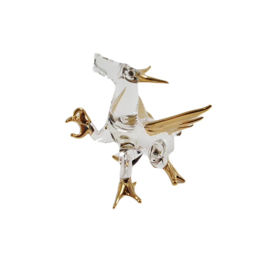 Crystal Dragon With 24K Gold Trim