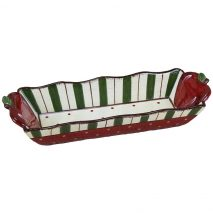 Young's Ceramic Cracker Tray, 12-Inch