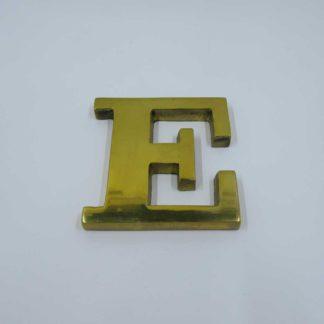 Brass Paperweight Letter E