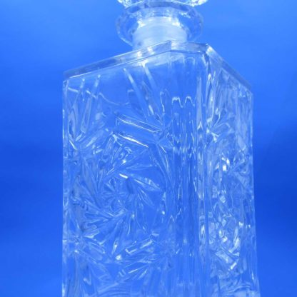 Crystal Clear Crystal Decanter & Stopper - feature crystal design