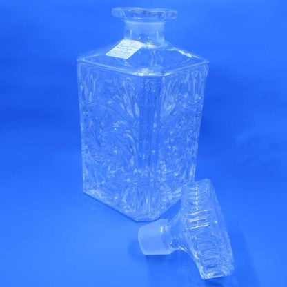 Crystal Clear Crystal Decanter & Stopper (open)