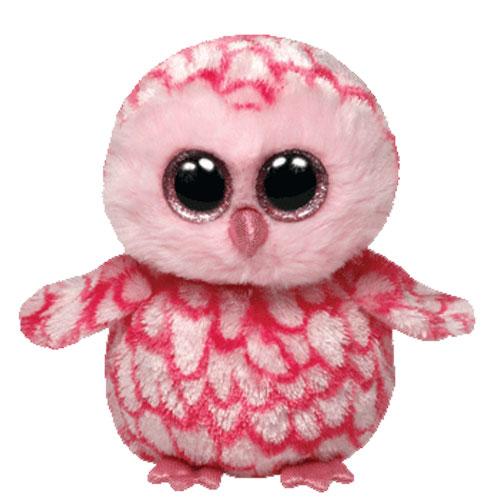 Ty Beanie Boos - Pinky the Pink Barn Owl (Glitter Eyes)