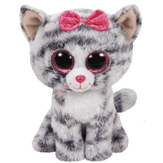 TY Beanie Boos - Kiki the Grey Tabby Cat (Regular Size)