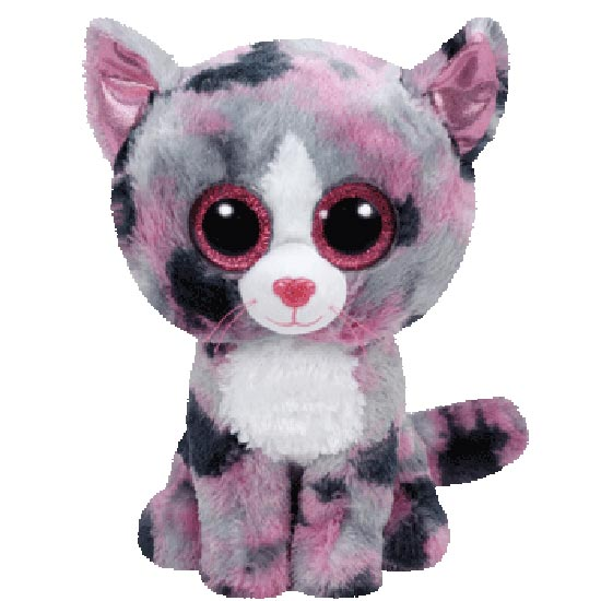 TY Beanie Boos - Lindi the Pink Cat (Regular Size)