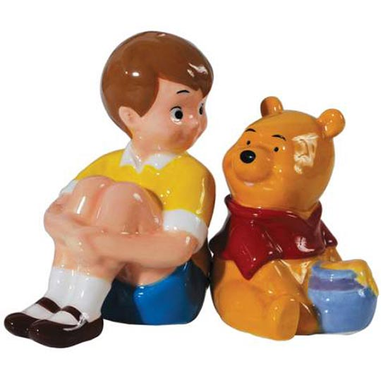 Westland Giftware Disney Christopher Robin and Winnie The Pooh Salt and Pepper Shakers