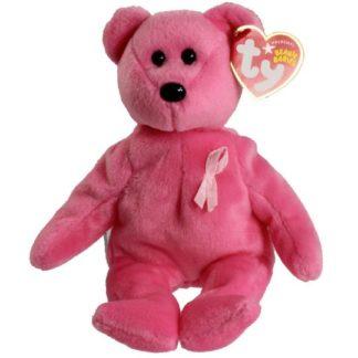 Ty Beanie Baby - Aware the Bear (Breast Cancer Awareness Bear)