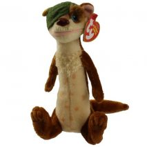 Ty Beanie Baby - Buck the One Eyed Weasel (Ice Age 3 Movie)