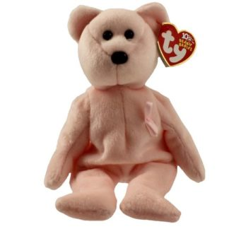 Ty Beanie Baby - Cure the Pink Bear (Breast Cancer Awareness Bear)