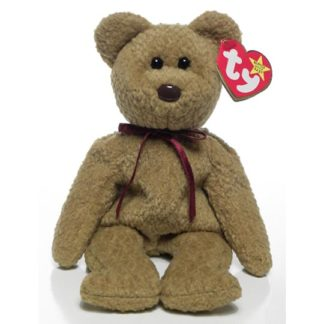 Ty Beanie Baby - Curly the Brown Nappy Bear