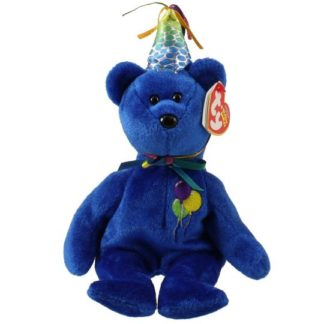 Ty Beanie Baby - Happy Birthday the Bear 2007 Blue Version