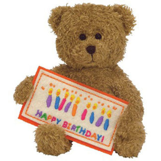 Ty Beanie Baby - Happy Birthday the Bear Greetings Collection