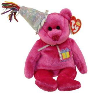Ty Beanie Baby - January the Teddy Birthday Bear (w/ hat)
