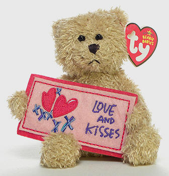 Ty Beanie Baby - Love and Kisses the Bear (Greetings Collection)