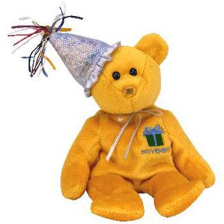 Ty Beanie Baby - November the Teddy Birthday Bear (w/ hat)