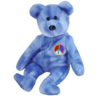 Ty Beanie Baby - Peace 2003 the Bear (Blue Version)