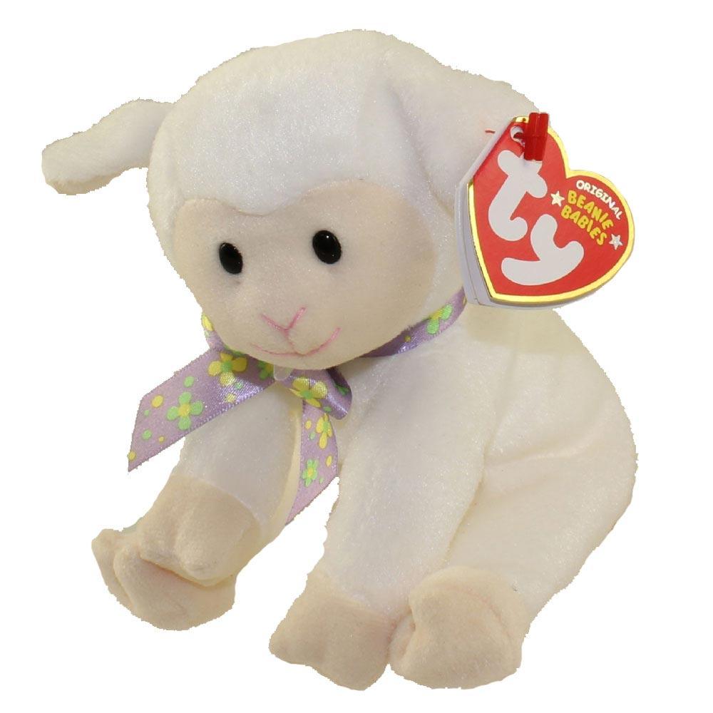 TY Beanie Baby - Sheepishly the White Lamb