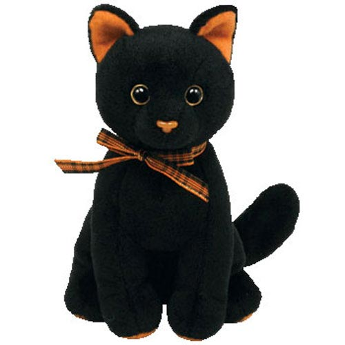 TY Beanie Baby - Sneaky the Black & Orange Cat