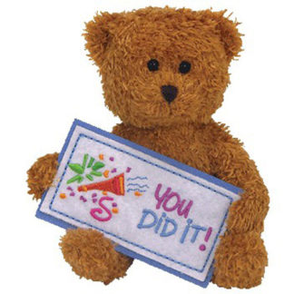 Ty Beanie Baby - You Did It the Bear