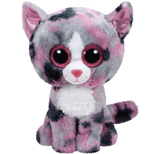 TY Beanie Boos - Lindi the Pink Cat (Medium Size)