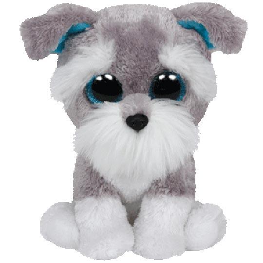 TY Beanie Boos - Whiskers the Schnauzer Dog (Medium Size)