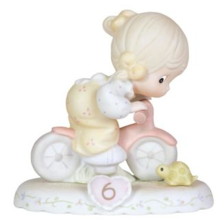 Enesco Precious Moments Growing in Grace Age 6, Blonde Girl