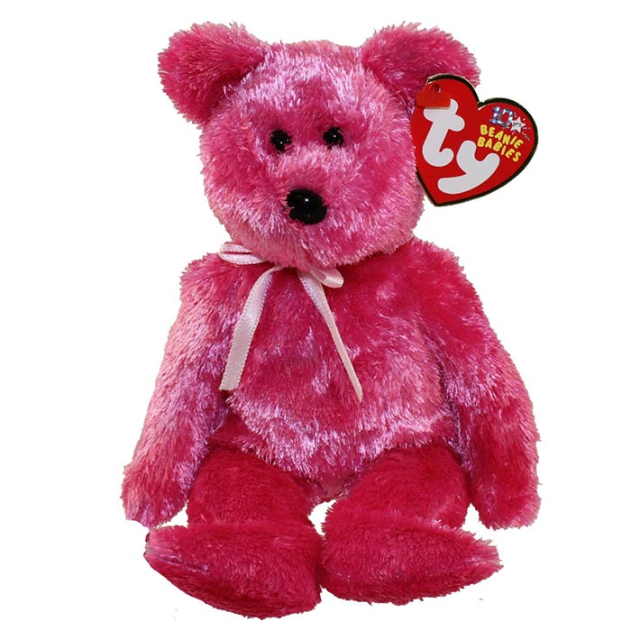 TY Beanie Baby - Sherbet the Bear Hot Pink Version