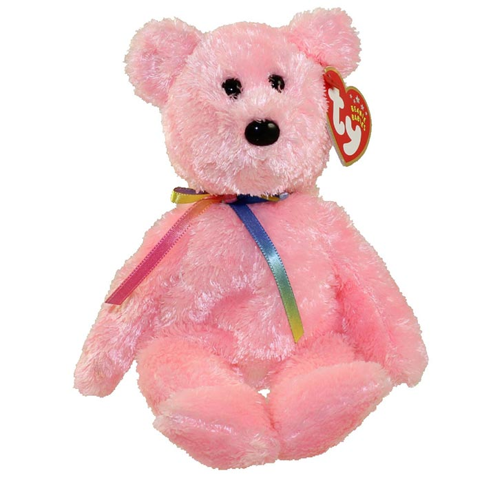 TY Beanie Baby - Sherbet the Bear Pink Version