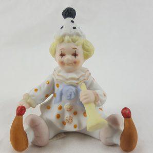 """Lefton China 2-1/2""""H Porcelain Clown"""