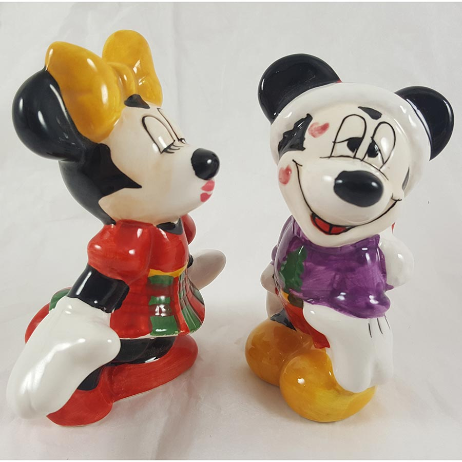 Disney Mickey & Minnie Mouse Kissing Salt & Pepper Shakers