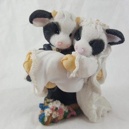Enesco Mary's Moo Moos I'll Never Love An-udder Wedding Couple Double Figurine