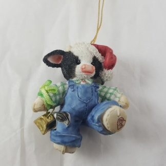 Enesco Mary's Moo Moos Boy Cow with Bell Hanging Ornament