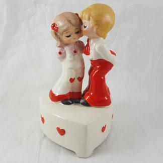 Porcelain Valentine Boy and Girl Musical