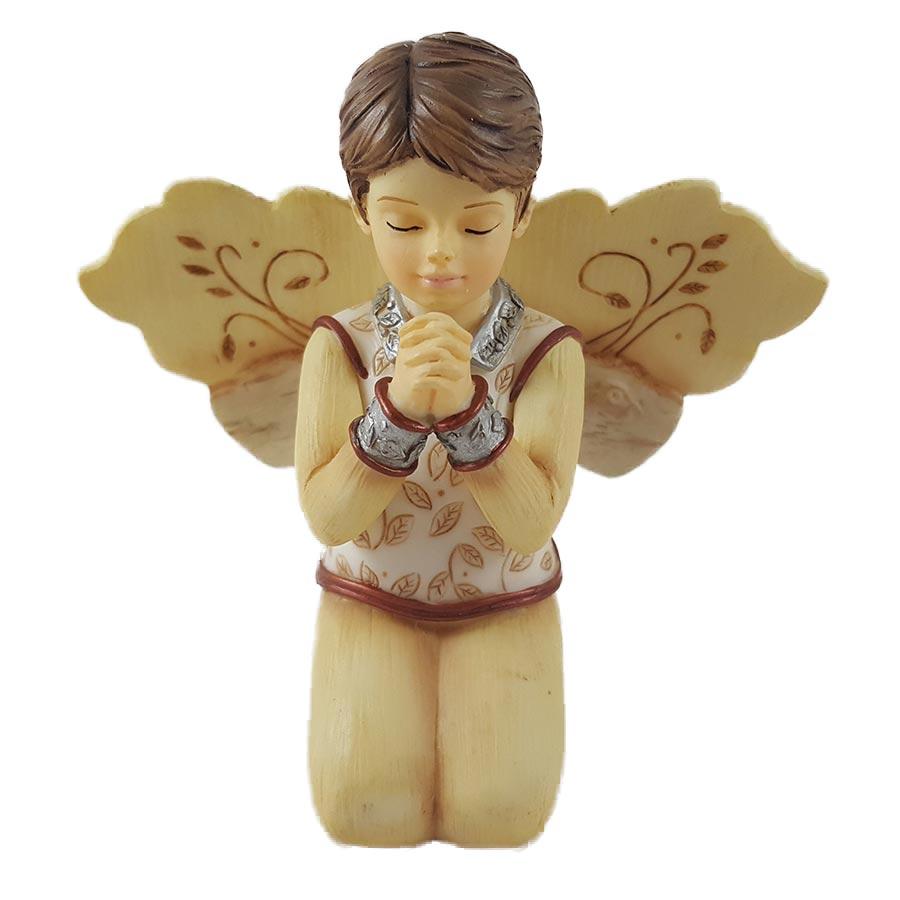 "Elements In Faith 3.5"" Kneeling Boy Angel Figurine"
