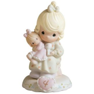 Enesco Precious Moments Growing In Grace Age 4, Blonde Girl Figurine
