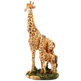 Wildlife Wood-like Cold Resin Giraffe Figurine