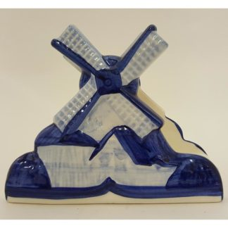 Delft Blue Hand Painted Windmill Napkin Holder