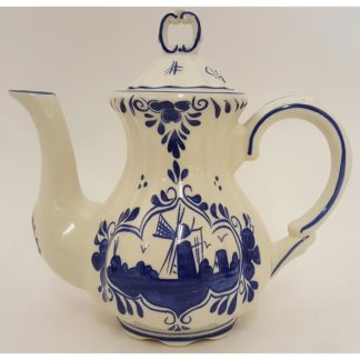 Windmill Design 4 Cup Blue Delft Teapot
