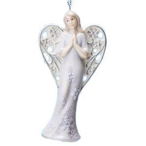 "Roman Inc 4.25"" Angel Ornament Purple"