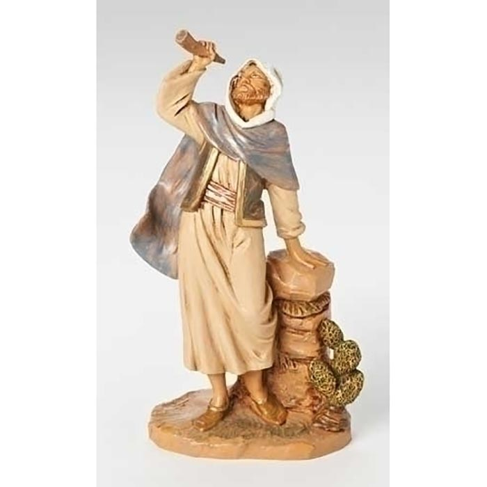 Phillip Man with Horn Christmas Nativity Village Figure