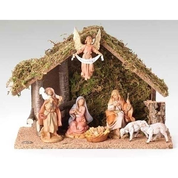 Fontanini by Roman Figure Centennial Nativity Set with Italian set 7-Piece