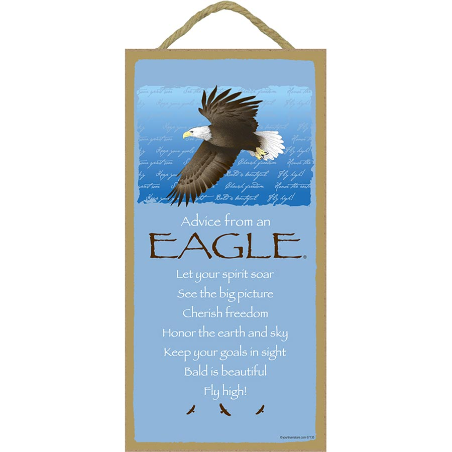 """Advice From an Eagle Inspirational Wall Plaque 5"""" x 10"""""""