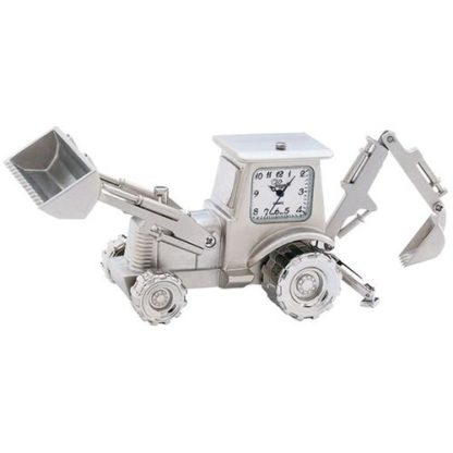 Sanis Enterprises Silver Back Hoe Desk Clock
